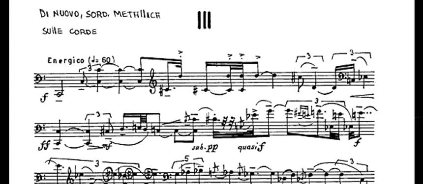 """""""La Trilogia"""" per violoncello di Scelsi: masterclass di Arne Deforce"""